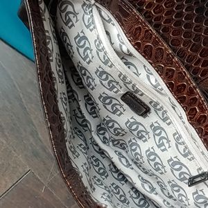 Guess Bags - Guess Burnished Bronze Bejeweled Clutch